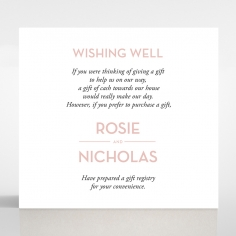 Pink Chic Charm Paper wedding gift registry invite card design