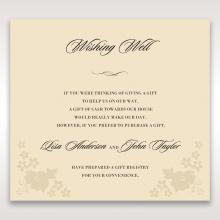 Precious Pearl Pocket wishing well invitation card design
