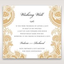 Prosperous Golden Pocket wishing well stationery invite card design