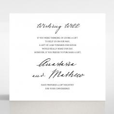 Pure Charm wedding wishing well enclosure invite card