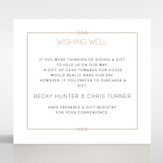 Quilted Grace wedding wishing well invitation