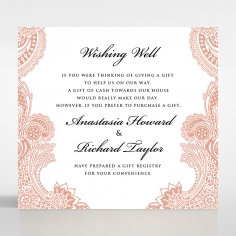 Regal Charm Letterpress gift registry invite card design
