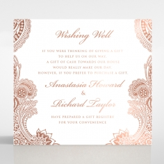 Regal Charm Letterpress with foil gift registry invitation