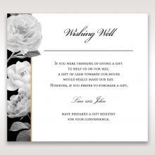 Rose Gold Flowers wedding gift registry invitation card