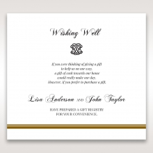 Royal Elegance wishing well invite