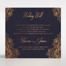 Royal Embrace wedding stationery gift registry invite card