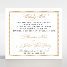 Royal Lace wishing well stationery invite card design