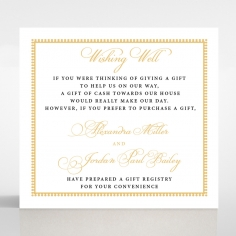 Royal Lace wishing well stationery invite