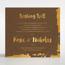 Rusted Charm wedding stationery gift registry enclosure card