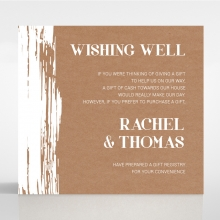 Rustic Brush Stroke gift registry enclosure stationery invite card design