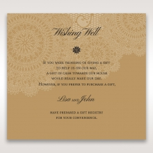 Rustic Charm gift registry stationery invite