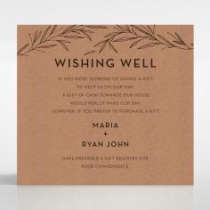Rustic Oriental wishing well enclosure invite card