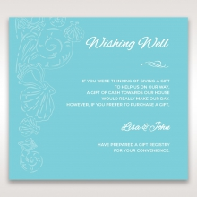 Seaside splendour wishing well invitation card