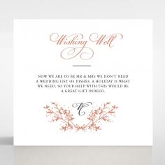 Secret Garden wedding gift registry enclosure card design