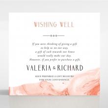 Serenity Marble wedding stationery gift registry invite card