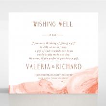 Serenity Marble wedding stationery gift registry invite card design
