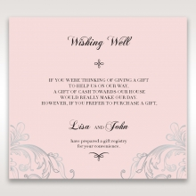 Silvery Charisma wedding wishing well card