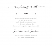Simply Rustic wishing well enclosure invite card