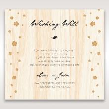 Splendid Laser Cut Scenery wedding stationery gift registry enclosure invite card design