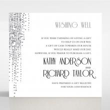 Star Shower wedding stationery gift registry invite card