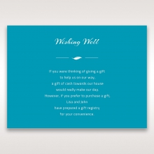 Stylish Laser cut Peacock Feather Digital wedding stationery wishing well invite card design