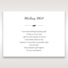 Stylish Laser cut Peacock Feather wedding stationery wishing well enclosure card