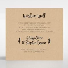 Sweetly Rustic wedding wishing well card