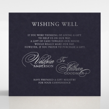 Timeless Romance wishing well enclosure invite card