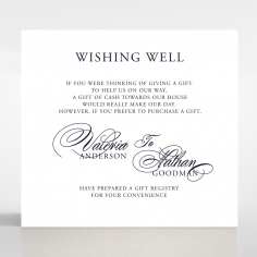 Timeless Romance wishing well stationery invite