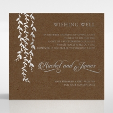 Unbroken Romance wishing well enclosure stationery invite card design