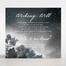 Under the Stars wedding stationery gift registry card