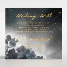 Under the Stars wedding stationery gift registry card design