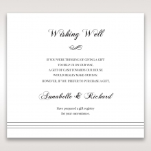 Unique Grey Pocket with Regal Stamp wedding gift registry card design