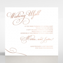 United as One wishing well invitation card