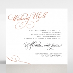 United as One wishing well stationery card