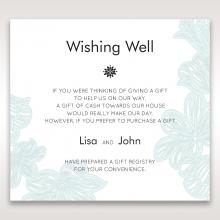 Vibrant Flowers gift registry enclosure card design