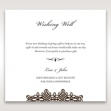 Victorian Charm wedding wishing well invite card design