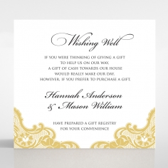 Victorian Lace wedding stationery wishing well card