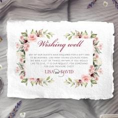 Vines of Love wedding wishing well invite card design