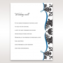 Vintage Glamour wedding stationery wishing well enclosure invite card