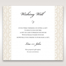 Vintage Lace Frame wedding stationery wishing well invitation card