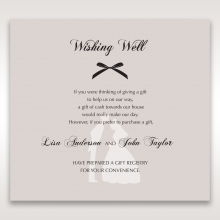 Wedded Bliss wedding stationery gift registry invitation card design