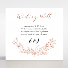 Whimsical Garland wishing well wedding card design