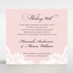 White Lace Drop gift registry invitation