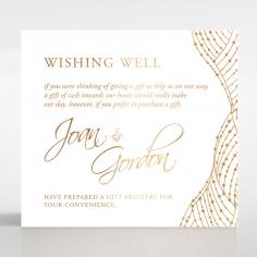 Woven Love Letterpress with foil gift registry invitation card