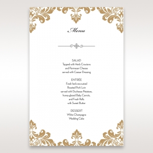 Stand Out With Adorns Matching Wedding Menu Cards
