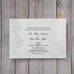 gold foil wedding invitations exquisite designs With silver foil stamped wedding invitations uk