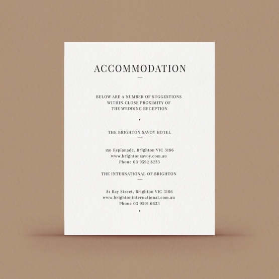 Black Ink Accommodation Card  -  - DA116092-GW-GG-2 - 178722