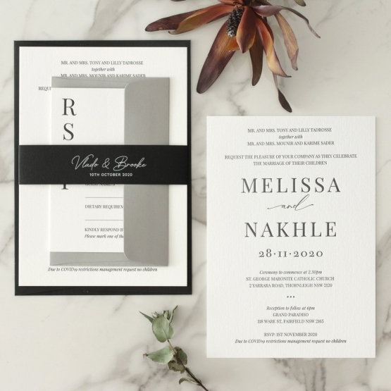 Black and Chic Letterpress - Wedding Invitations - WP-IC55-LP-04 - 179044