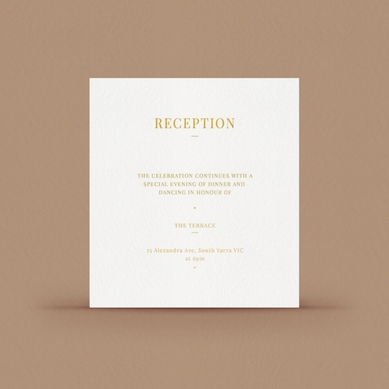 Gold/ Silver Ink or Black Reception Card - Wishing Well/Gift Registry - WPCD-IG - 178723